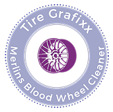 Merlins Blood Wheel Cleaner & Tire Grafixx Custom Tire Lettering